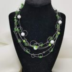 Loopy Loop green necklace $42