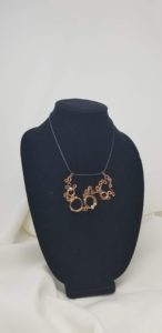 Whimsical Wire copper necklace