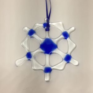 Small Snowflake (Blue – 4.5 in)