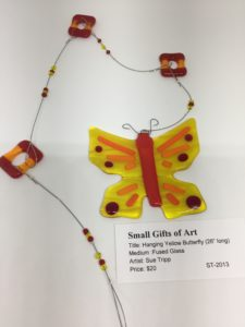 """Hanging Yellow Butterfly - 26"""""""